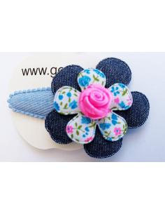 Haarspeld grijze bloem