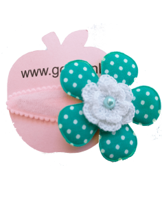 Haarspeld groene bloem