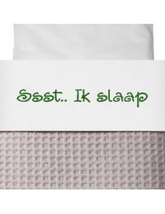 Laken wieg ssst ik slaap