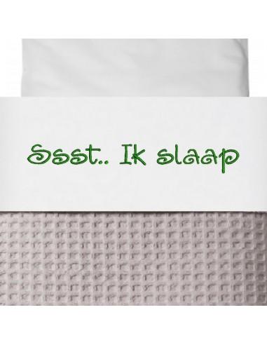 Laken Wieg Ssst Ik Slaap Kleur Groen