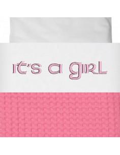 Laken wieg it's a girl