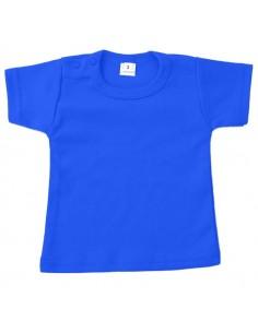 Bedrukt T shirt blauw