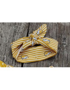 Haarband egel geel