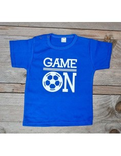 T shirt blauw game on