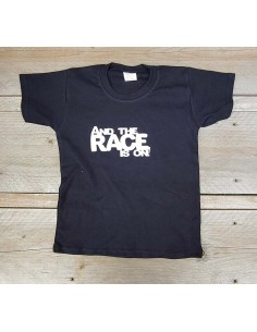 T shirt zwart and the race...