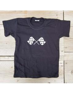 T shirt zwart vlag