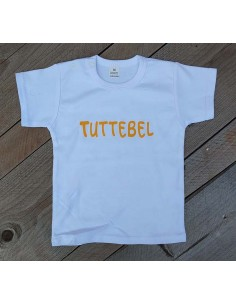 T shirt wit tuttebel