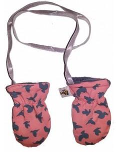 Handschoentjes roze vogel