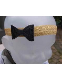 Haarband zwarte strik