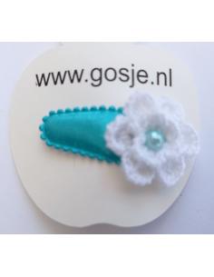 Haarspeld witte bloem
