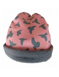 Muts roze vogel